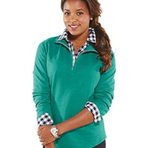 Ladies' French Terry 1/4-Zip Pullover Thumbnail