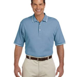Men's Pima Piqué Short-Sleeve Tipped Polo Thumbnail