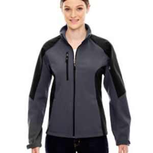 Ladies' Compass Colorblock Three-Layer Fleece Bonded Soft Shell Jacket Thumbnail