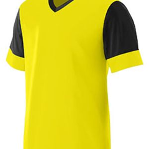 Adult Wicking Polyester V-Neck Jersey with Contrast Sleeves Thumbnail