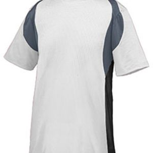 Youth Wicking Poly/Span Short-Sleeve Jersey with Contrast Inserts Thumbnail