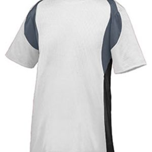 Adult Wicking Poly/Span Short-Sleeve Jersey with Contrast Inserts Thumbnail