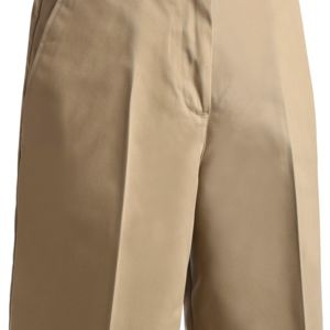 Ladies Utility Flat Front Chino Short-9