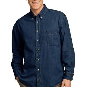 Long Sleeve Value Denim Shirt Thumbnail