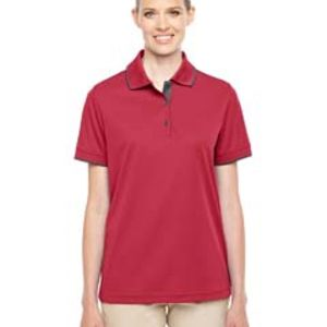 Ladies' Motive Performance Piqué Polo with Tipped Collar Thumbnail