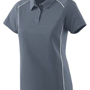 Ladies Wicking Polyester Sport Shirt with Contrast Piping Thumbnail