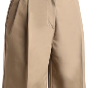 Ladies Utility Pleated Front Chino Short-9