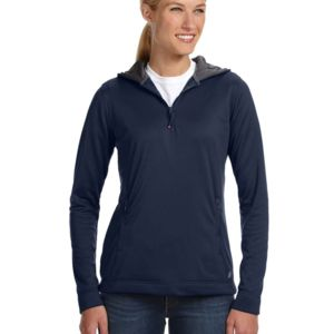 Russell Athletic Ladies' Tech Fleece Quarter-Zip Pullover Hood Thumbnail
